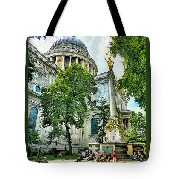 St Paul Is Giving His Blessing Tote Bag by Steve Taylor