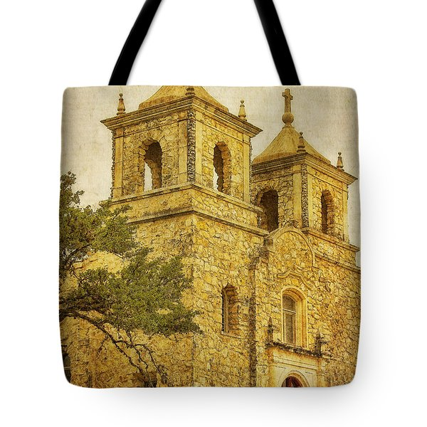 Tote Bag featuring the photograph St. Peter The Apostle Church by Joan Bertucci