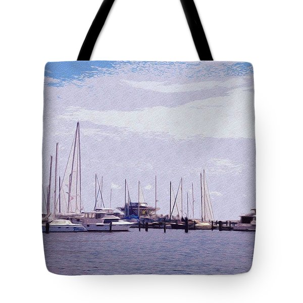 St. Petersburg Marina Tote Bag by Bill Cannon
