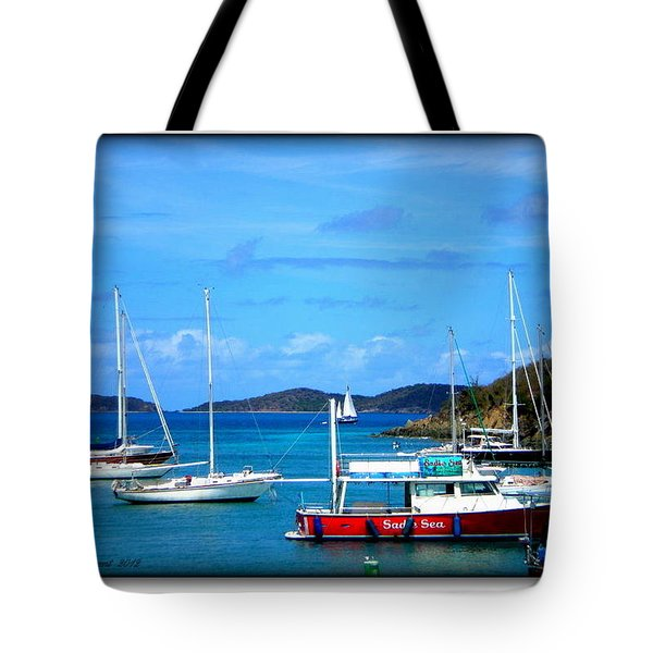 Tote Bag featuring the photograph St-thomas Virgin Islands by Danielle  Parent