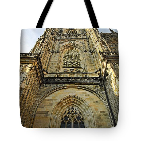 St Vitus Cathedral Prague - The Realms Of 'non-being' Tote Bag by Christine Till