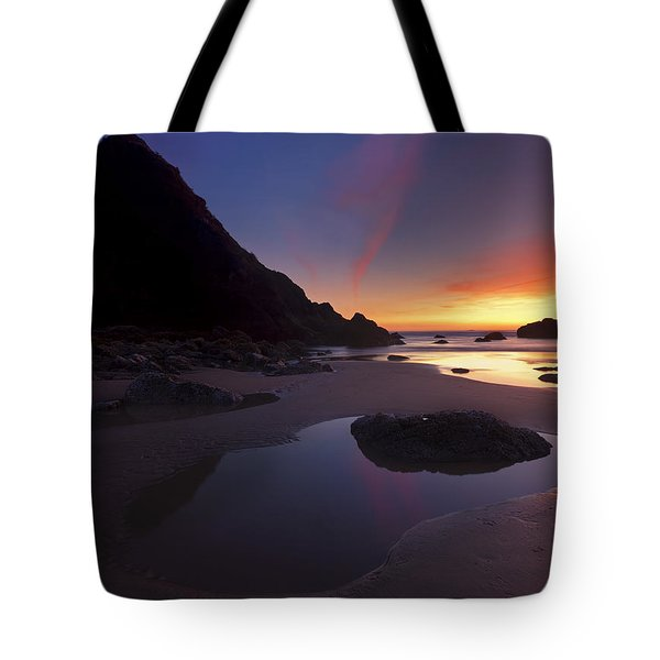 Stacked Reflections Tote Bag by Mike  Dawson