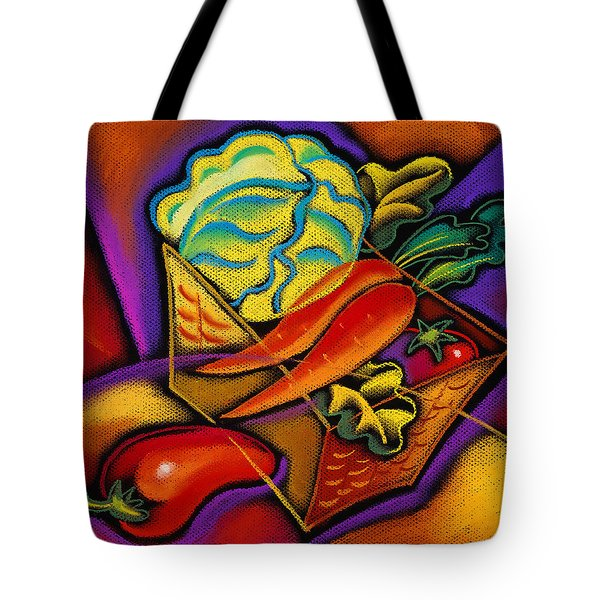 Staff For Yummy Salad Tote Bag by Leon Zernitsky