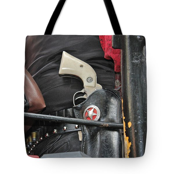 Tote Bag featuring the photograph Stagecoach Guard by Bill Owen