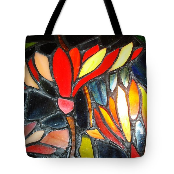 Stained Glass Four Tote Bag