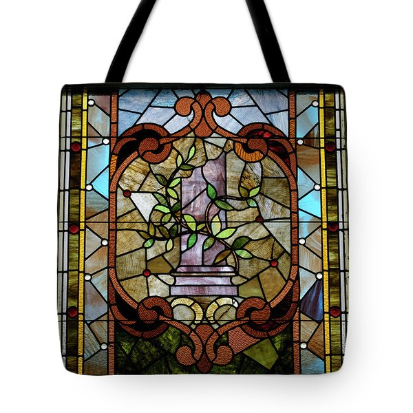 Stained Glass Lc 12 Tote Bag by Thomas Woolworth