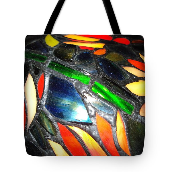 Stained Glass Three Tote Bag