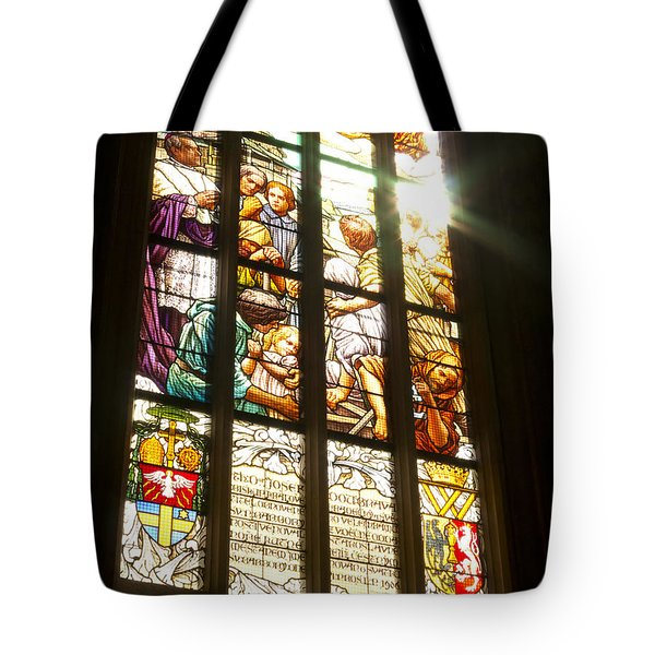 Stained Glass Window Tote Bag by Michal Boubin