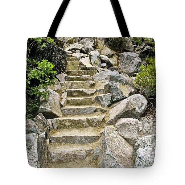 Staircase To Eagle Falls Lake Tahoe Tote Bag by LeeAnn McLaneGoetz McLaneGoetzStudioLLCcom