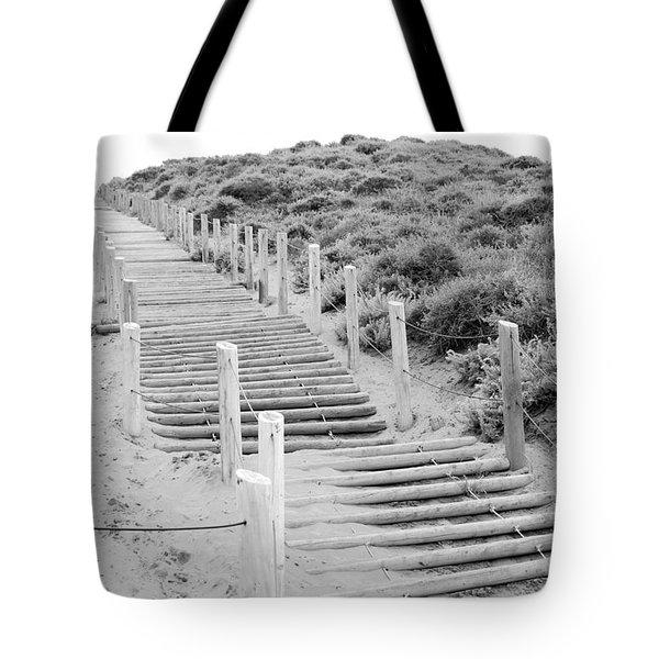 Stairs At Baker Beach Tote Bag