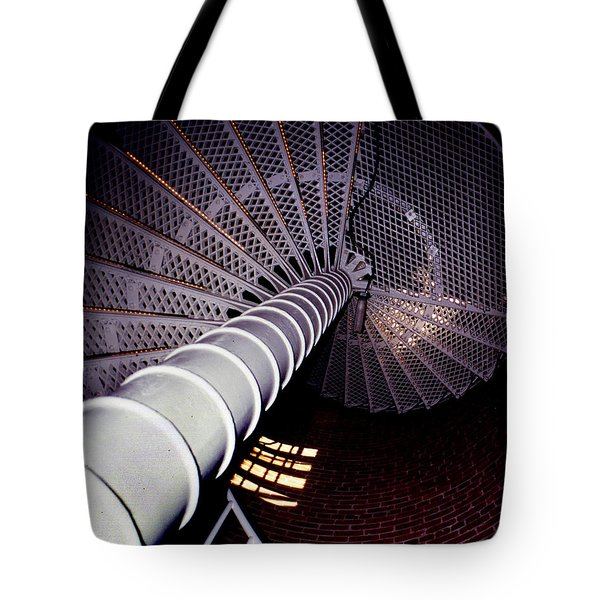 Stairs To The Light Tote Bag by Skip Willits