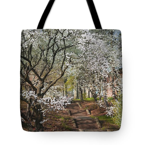 Stairway To Happiness Tote Bag