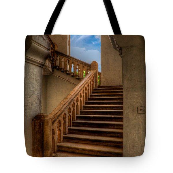 Stairway To Heaven Tote Bag by Adrian Evans