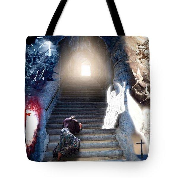 Stairway To Heaven Tote Bag by Bill Stephens