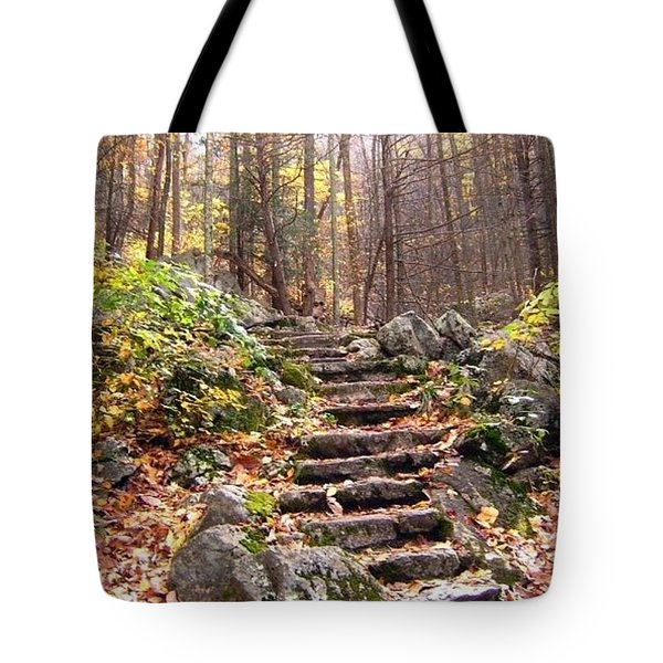Tote Bag featuring the photograph Stairway To Heaven by Cathy Shiflett