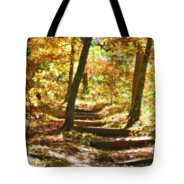 Tote Bag featuring the photograph Stairway To Heaven by Peggy Franz