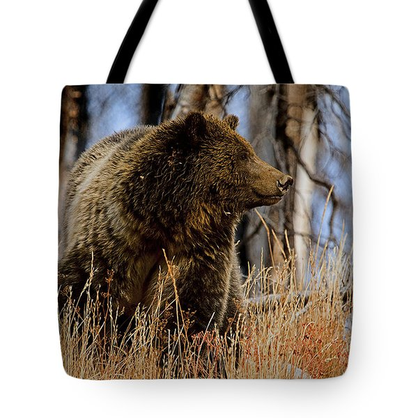 Tote Bag featuring the photograph Standing In The Grass by J L Woody Wooden