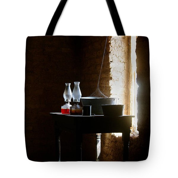 Tote Bag featuring the photograph Standing In The Shadow Of Time by Vicki Pelham