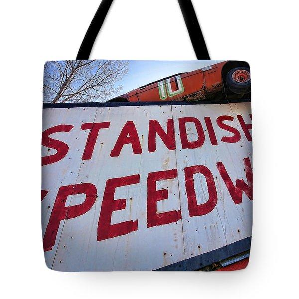 Standish Speedway Tote Bag by Gordon Dean II