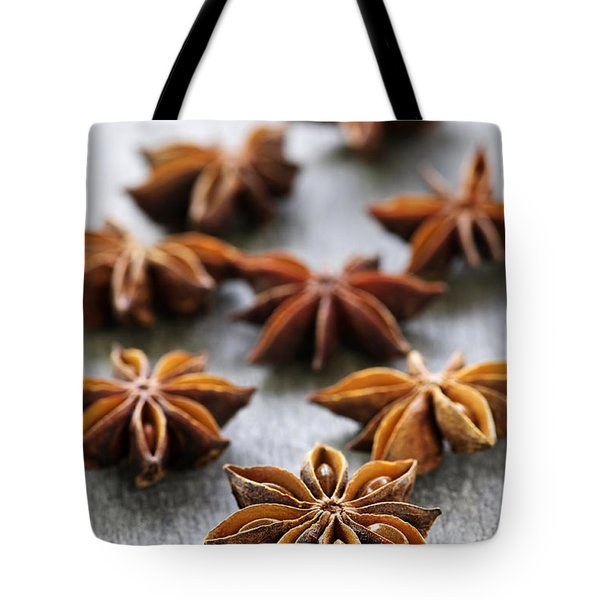 Star Anise Fruit And Seeds Tote Bag by Elena Elisseeva