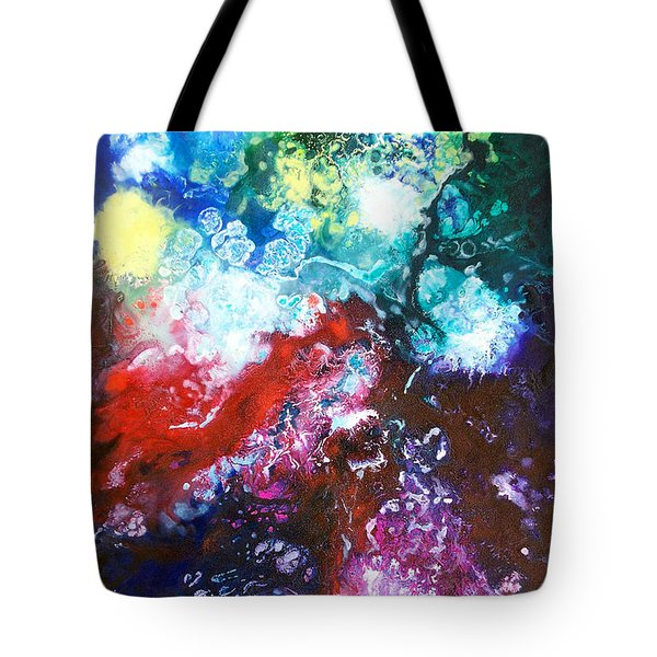 Star Clusters Tote Bag by Sally Trace