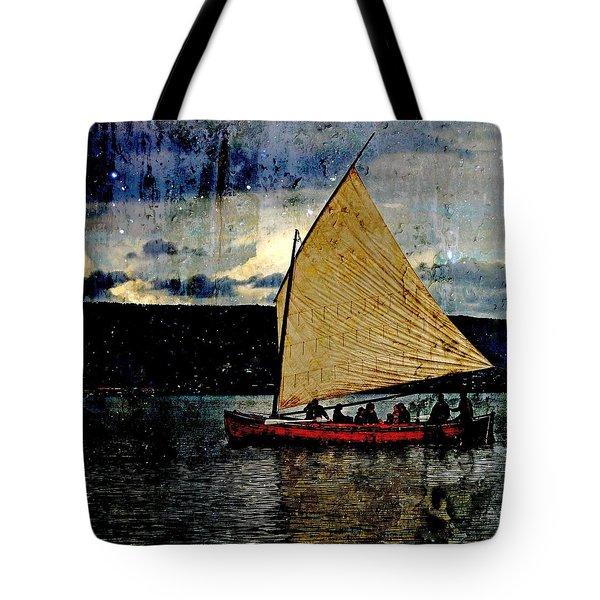 Star Ship Tote Bag by Michele Cornelius
