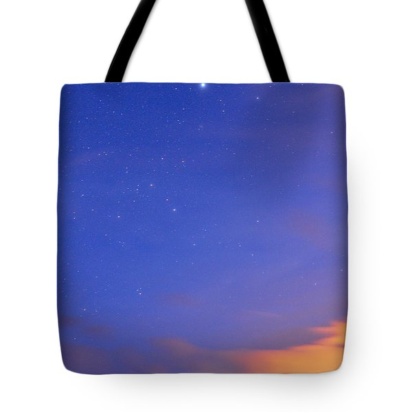 Star Sirius Over National Park Sierra Nevada At Sunset. Constelation Canis Mayor Tote Bag by Guido Montanes Castillo