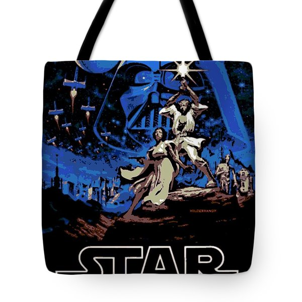 Star Wars Poster Tote Bag by George Pedro