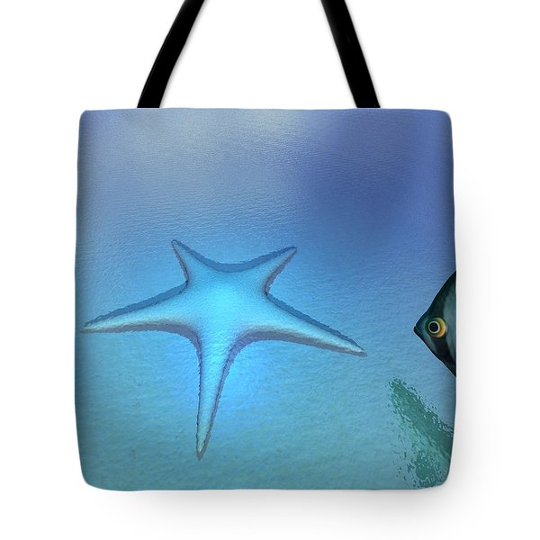 Tote Bag featuring the digital art Starfish by John Pangia