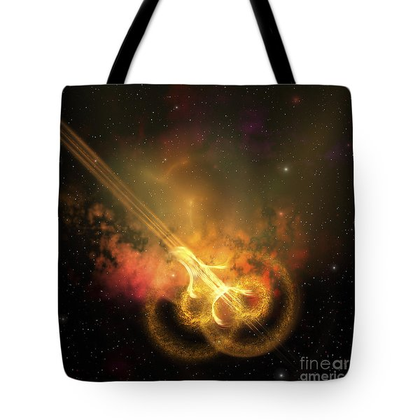 Stars And Gases Collide To Form This Tote Bag
