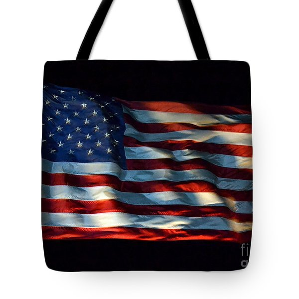 Stars And Stripes At Night Tote Bag