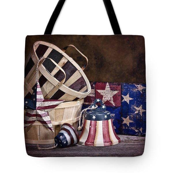 Stars And Stripes Still Life Tote Bag