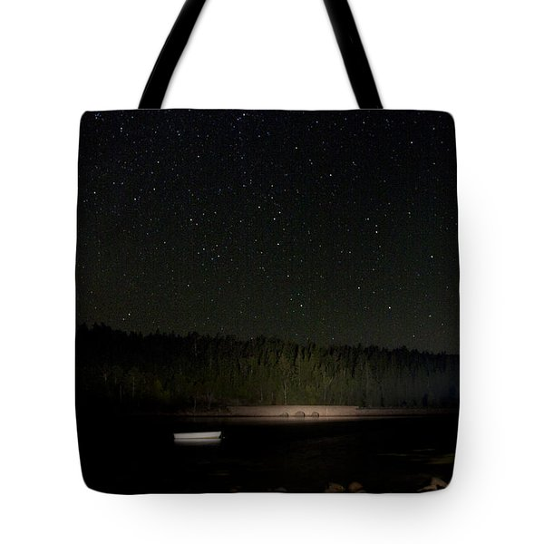 Tote Bag featuring the photograph Stars Over Otter Cove by Brent L Ander