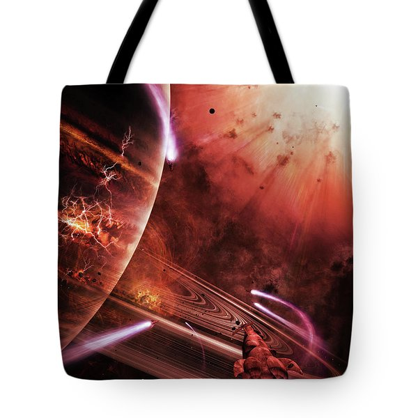 Starships Hone Their Skills Tote Bag by Brian Christensen
