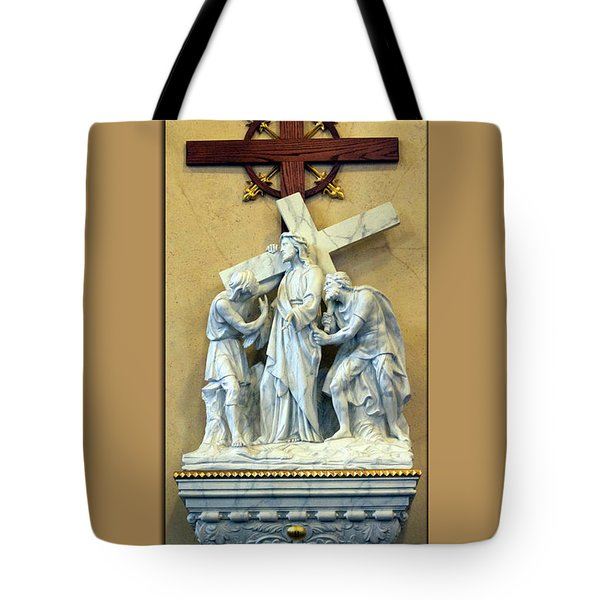 Station Of The Cross 02 Tote Bag by Thomas Woolworth
