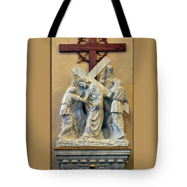 Station Of The Cross 05 Tote Bag by Thomas Woolworth