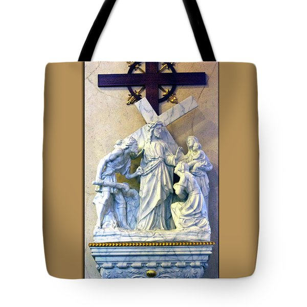 Station Of The Cross 08 Tote Bag by Thomas Woolworth