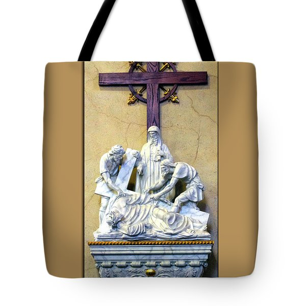 Station Of The Cross 09 Tote Bag by Thomas Woolworth