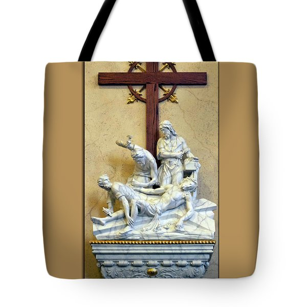 Station Of The Cross 11 Tote Bag by Thomas Woolworth