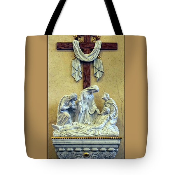 Station Of The Cross 13 Tote Bag by Thomas Woolworth