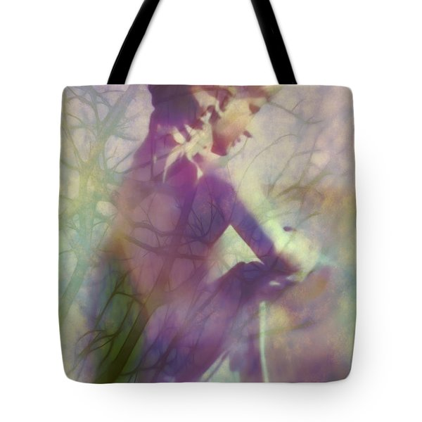 Statue In The Garden Tote Bag by Judi Bagwell
