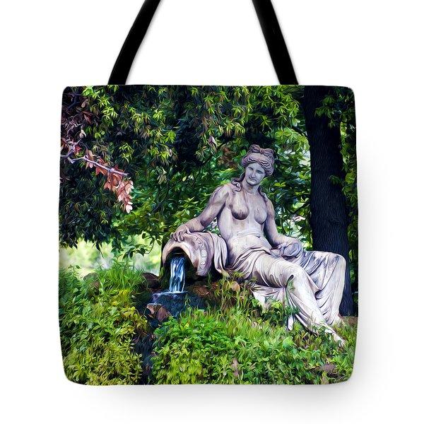 Statue In The Woods Tote Bag by Fabrizio Troiani