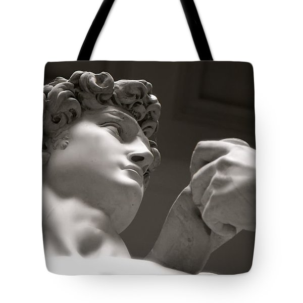 Tote Bag featuring the photograph Statue Of David by KG Thienemann