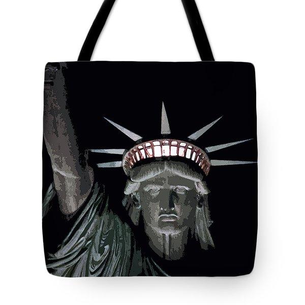 Statue Of Liberty Poster Tote Bag by David Pringle