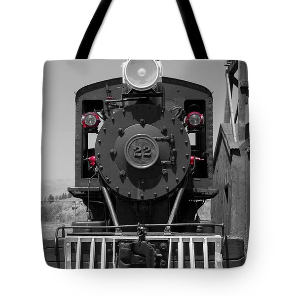 Tote Bag featuring the photograph Steam Engine Train by Deniece Platt