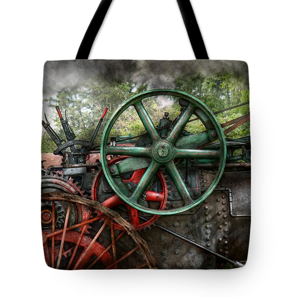 Steampunk - Machine - Transportation Of The Future Tote Bag by Mike Savad