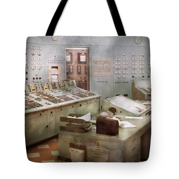 Steampunk - Retro - The Power Station Tote Bag by Mike Savad