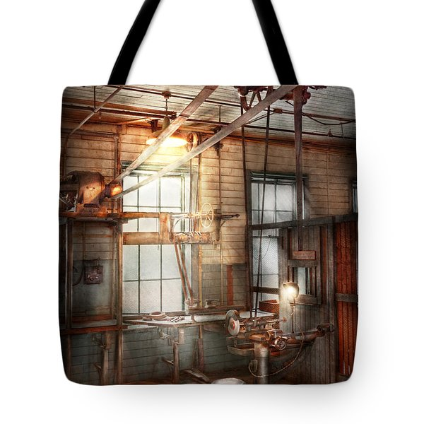 Steampunk - Machinist - The Grinding Station Tote Bag by Mike Savad