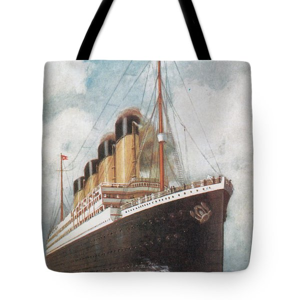 Steamship Titanic Tote Bag by Photo Researchers