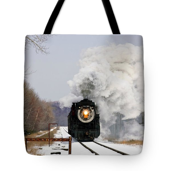Steamtown Excursion Train Tote Bag by Michael P Gadomski and Photo Researchers